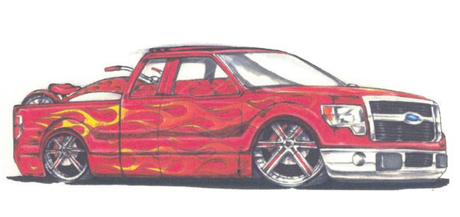 Выставка SEMA 2012: пикапы Ford F