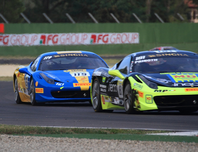 Team Ukraine на этапе Ferrari Challenge в Имоле