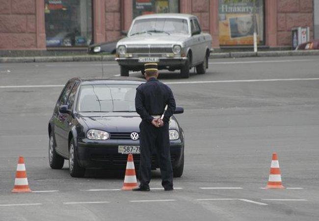 ГАИ перекроет центр Киева