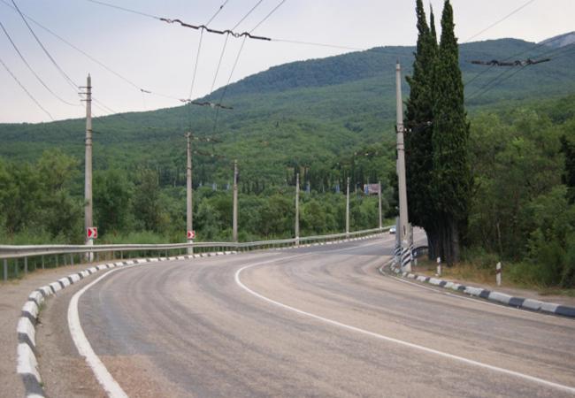 Ограничение движения автотранспорта на дорогах Крыма