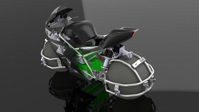 Всенаправленный мотоцикл со сферическими колесами