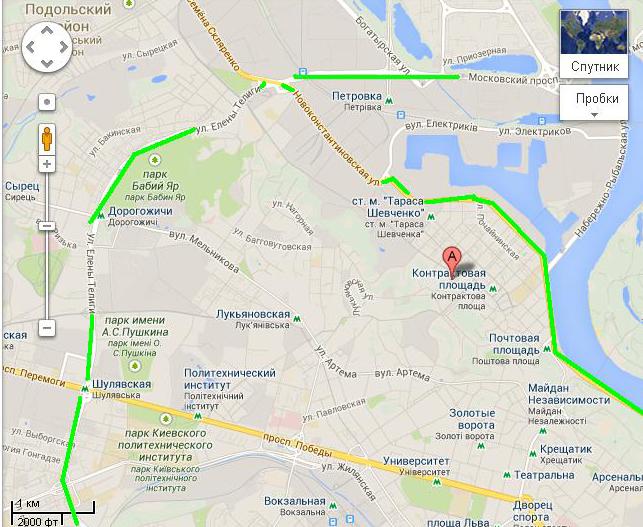 Движение транспорта на Подольском спуске закрыли до конца сентября
