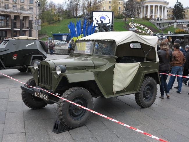 Выставка военной техники в Киеве: ГАЗ-67Б