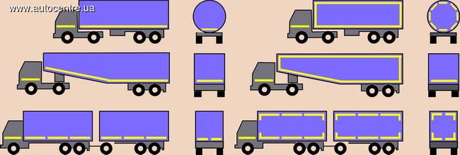 Контурная маркировка грузовиков