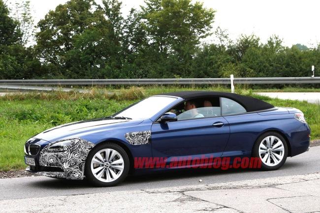 Новая BMW 6 Series без крыши попалась на глаза фотографам