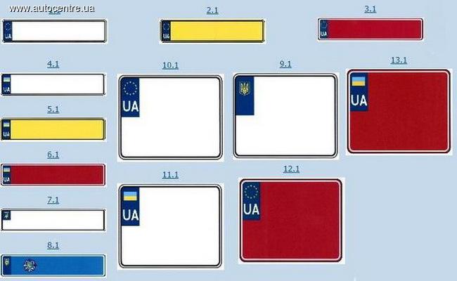 В Украине вводят новые автомобильные номера