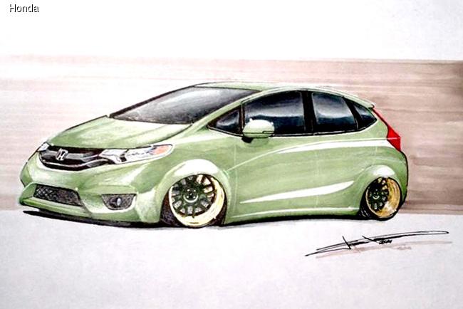 На SEMA-2014 Honda покажет тюнингованные хэтчбеки Fit