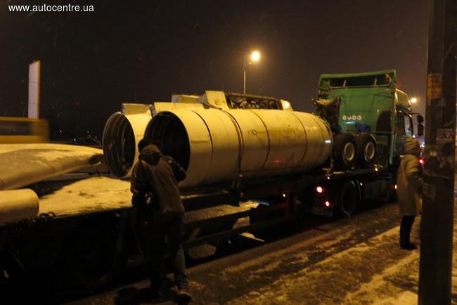 Перевозка самолета Ту-134 в Киеве