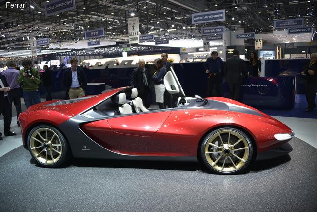 Прообразом для модели послужил концепта Pininfarina Sergio, дебютировавший на автосалоне в Женеве весной прошлого года.