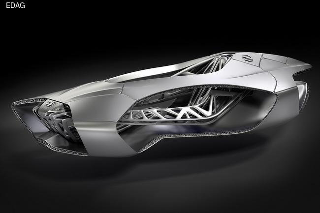 EDAG Light Cocoon является логическим продолжением концептуального кузова Genesis, показанного весной на автошоу в Женеве