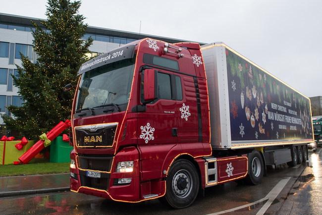 Рождественский грузовик MAN TGX