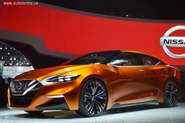 Внешность новой Maxima во многом перекликается с мотивами концепта Sport Sedan, показанного на автосалоне в Детройте в 2014 году.