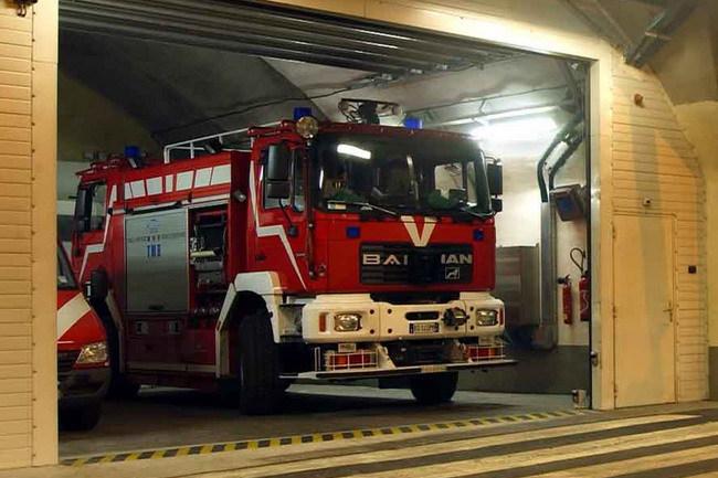 Пожарный автомобиль MAN с двумя кабинами