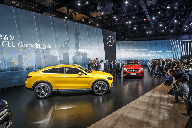 Шанхайский автосалон: мировая премьера Mercedes-Benz GLC Coupе