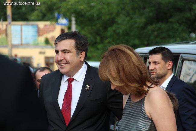 Новый губернатор Одесской области Михаил Саакашвили не мог пропустить такое важное мероприятие, как ОМКФ-2015.