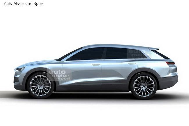 Audi Q6 попался в «сеть»