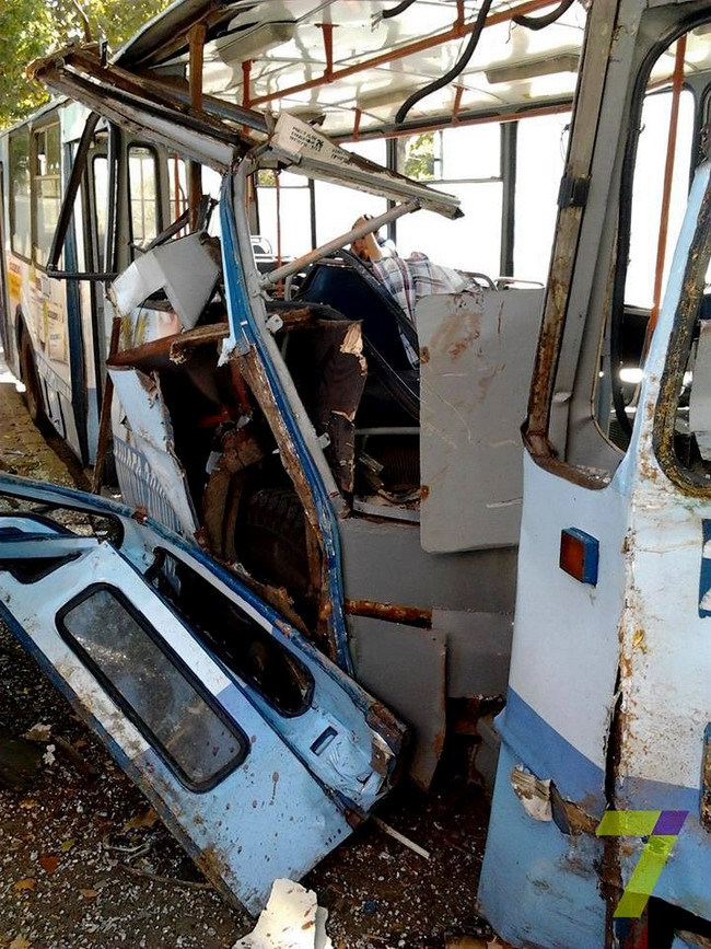 В одесском троллейбусе пострадали люди