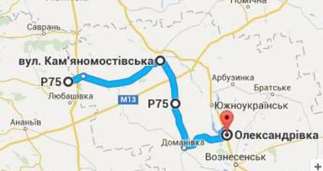 Карта автомагистралей в Украине, по которым лучше не ездить