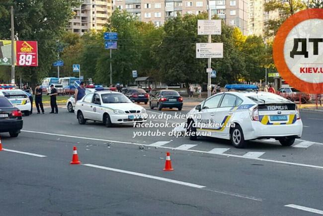 Автомобиль патрульной полиции – снова в ДТП