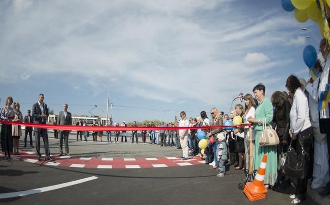 Виталий Кличко открыл транспортную развязку на Троещине