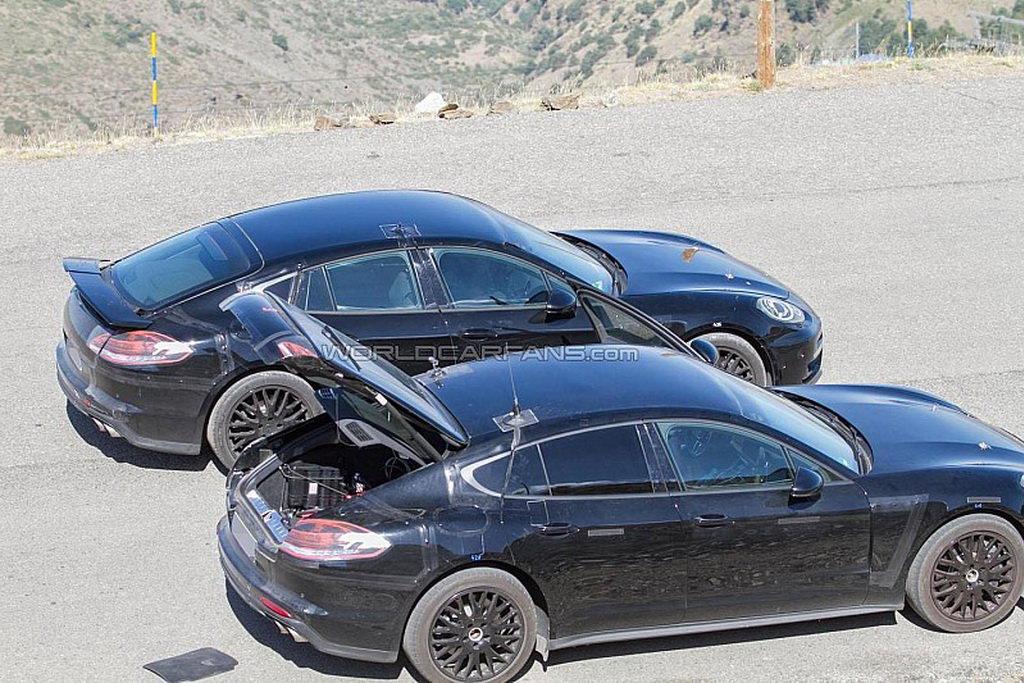 Porsche Panamera нового поколения уже замечен на улицах
