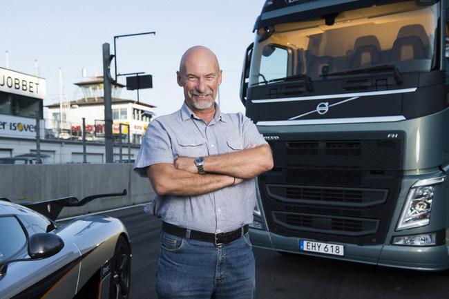 Грузовик Volvo за гонку с суперкаром получил п
