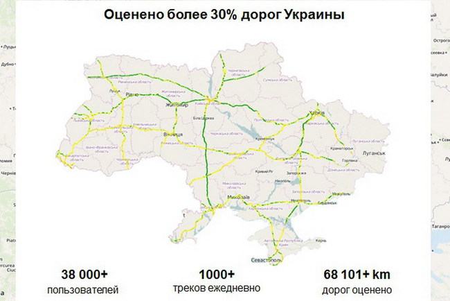 Мобильный сервис Uaroads поможет объехать плохие дороги