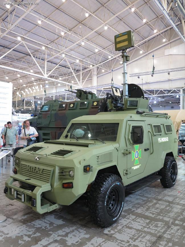 КрАЗ показал бронемашины для пограничников и полицейских