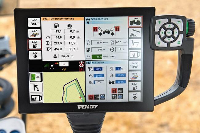 Трактор соответствует строгим экологическим стандартам Stage 4.  Максимальная скорость составляет 60 км/ч. Благодаря недавно разработанным, большим шинам (диаметр 2,35 м) и гибкой балластировке, трактор имеет отменный тяговые свойства. Этому способствует и наличие интегрированной системы регулирования давления в шинах VarioGrip. Fendt 1000 Vario был разработан для глобального рынка. Имея 60-дюймовую колею, он также подходит для Америки или Австралии. У дилеров машина появится уже в этом квартале.