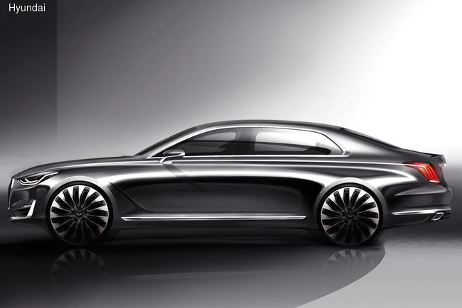 Hyundai показал эскизы нового флагмана Genesis