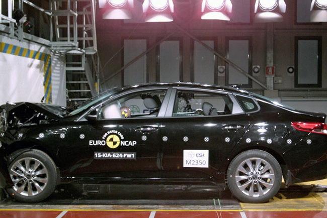 Новые Kia Sportage и Kia Optima получили 5 звезд по безопасности по итогам тестов EuroNCAP