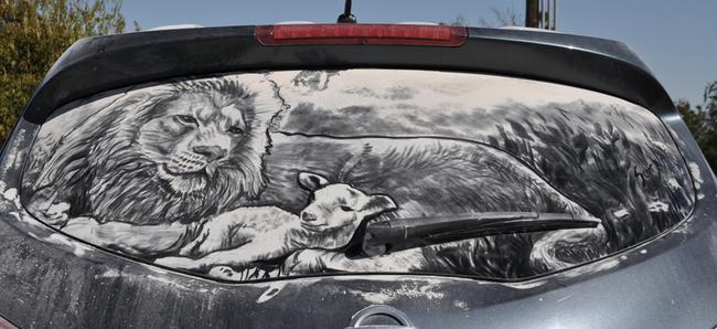 Новый способоб превратить автомобиль в произведение искусства (+ВИДЕО)