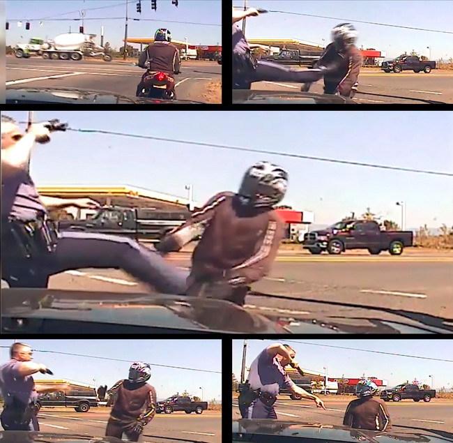 Как в США полицейские бьют мотоциклистов
