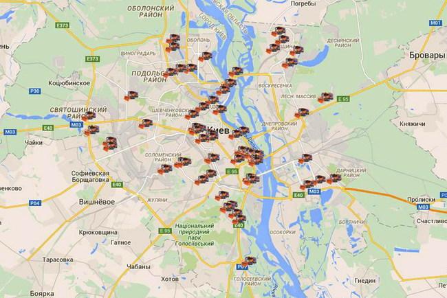 Работу снегоуборочной техники в Киеве можно проследить онлайн