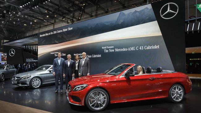 Женевский автосалон 2016: Mercedes-Benz C-Class Cabriolet