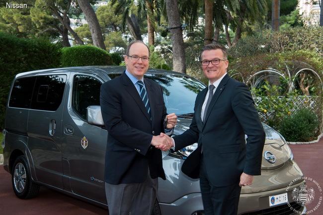 Гараж князя Монако пополнился электромобилями Nissan e-NV200