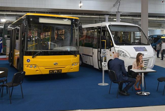 Новые украинские автобусы на выставке в Польше