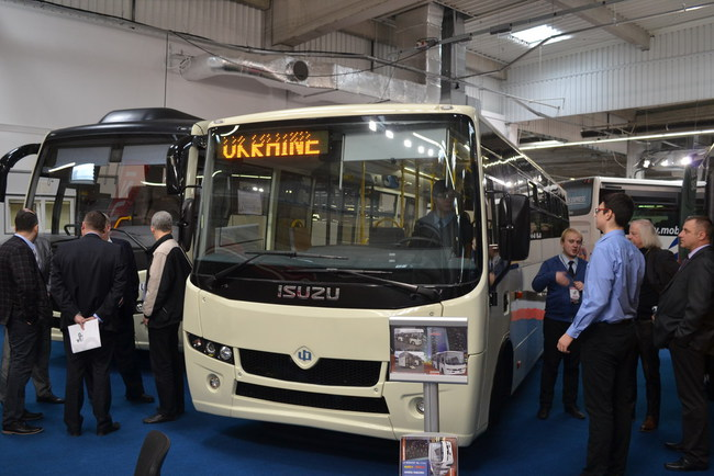 Новые украинские автобусы - на выставке в Польше