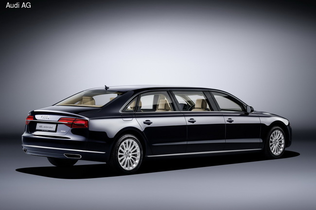 Audi A8 растянули до 6,4 м