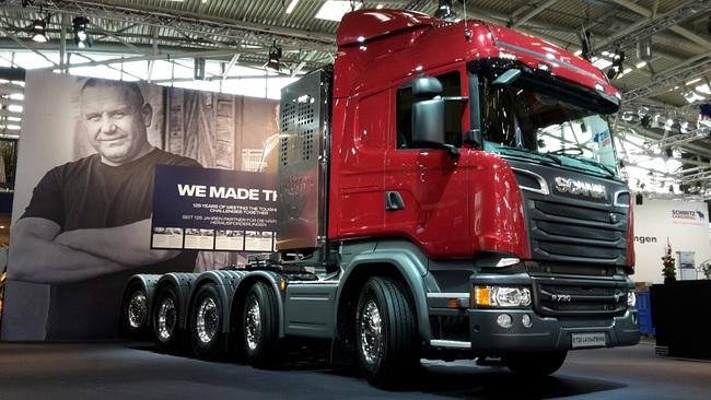 Грузовики Scania на строительной выставке Bauma