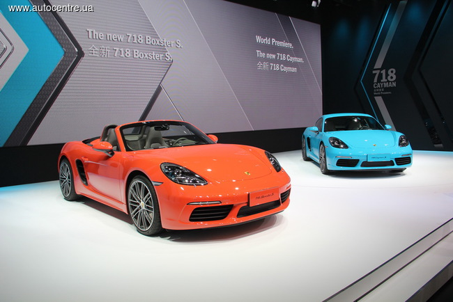Пекинский автосалон 2016: Porsche представляет 718 Cayman