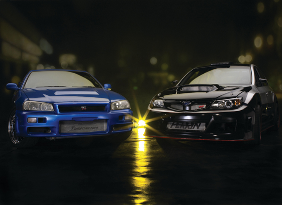 Nissan Skyline GTR и Subaru Impreza WRX STi