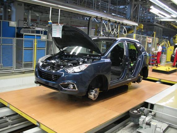 Завод Kia Motors,Новый hyundai tucson