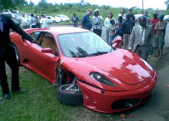 ДТП,Lamborghini Murcielago,Ferrari F430,ЮАР